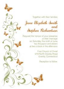 wedding invitations with pictures templates butterflies wedding invitation template wedding