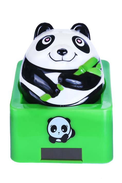 Miroir Metal 3066 by Maneki Panda Solaire Panda Chanceux Mignon Qui Remue 10cm