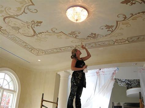 Ceiling Stencil by Maggie O Neill Modello Vinyl Stencil Ceiling Paint Pattern