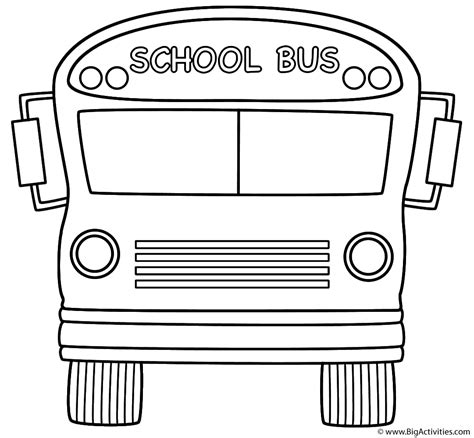 school bus front coloring page back to school