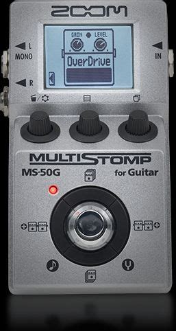 Zoom Ms50g Ms 50g Ms 50g Multistomp Pedal Zoom Ms 50g Multistomp Guitar Pedal Zoom