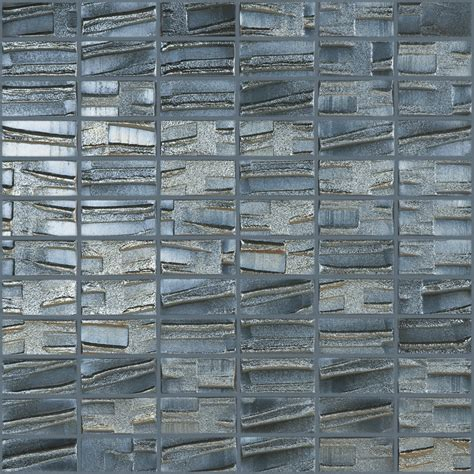 Glass Mosaic Tile Wall Shop Elida Ceramica Fired Metal Glass Mosaic Square Indoor