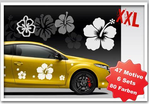 Aufkleber Auto Xxl by Hibiskus Autoaufkleber Blumen Aufkleber Auto Xxl
