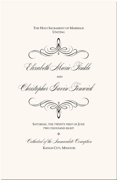 flourish mongram catholic mass wedding ceremony catholic