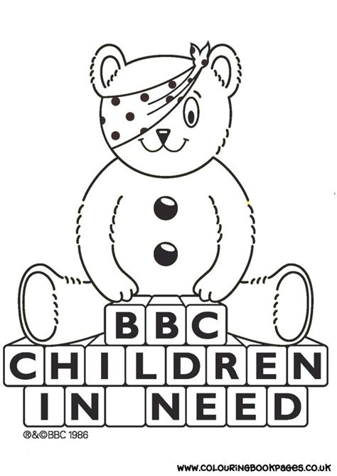 Pudsey Template Printables by Children In Need With Pudsey