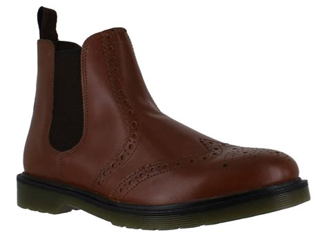 Country Boots Slip On mens oaktrak belper leather chelsea brogues country slip