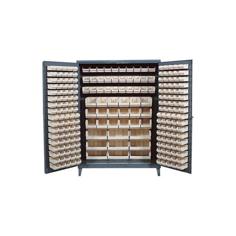 Quantum Storage Cabinet Quantum Storage Cabinet With 227 Bins 60in X 24in X 84in Size Ivory Northern Tool