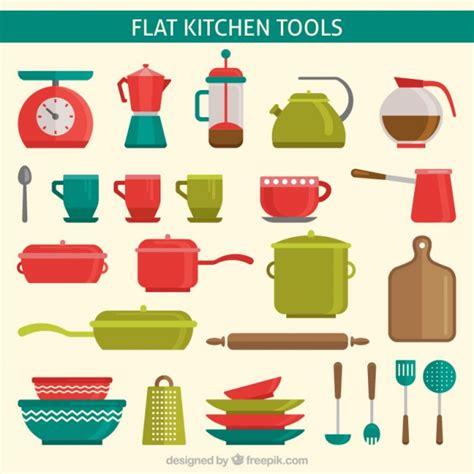 piatti da cucina colorati utensili da cucina piatti colorati scaricare vettori gratis