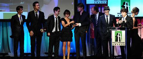 the social cast quot the social network quot cast video hollywood awards gala