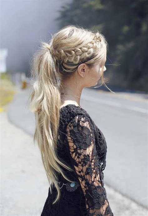 os of lazy plaited hair cornrows easy ponytail for long hair hairstyles pinterest so