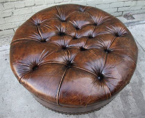 leather tufted ottoman at 1stdibs leather tufted ottoman at 1stdibs