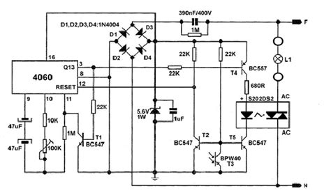 automatic light switch with photo transistor circuits