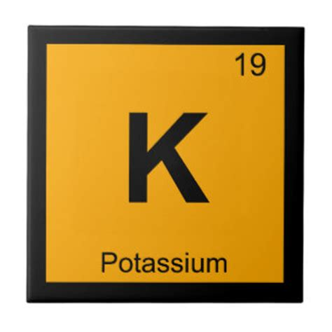 K Periodic Table by Periodic Table Ceramic Tiles Zazzle