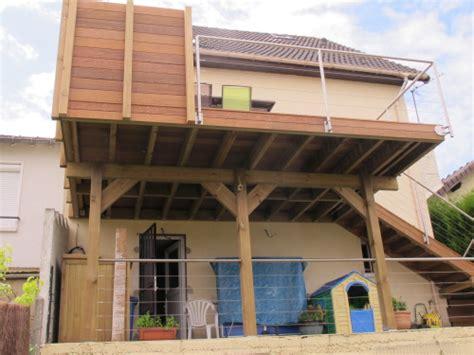 Construire Terrasse Bois Sur Pilotis by Construction Terrasse En Bois Sur Pilotis Avec Escalier