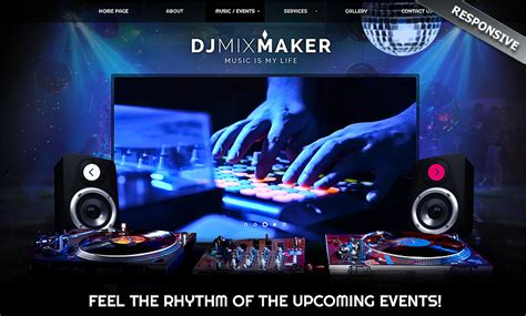dj themes songs dj music bootstrap template id 300111860 from bootstrap