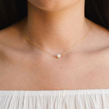 C Nel Pearls best single pearl necklace gold products on wanelo