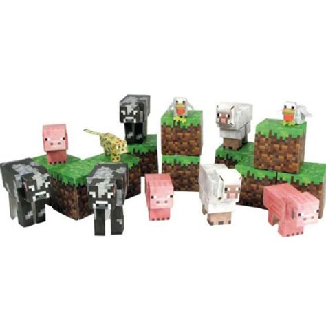 Papercraft Sets - minecraft papercraft 30 sets iwoot