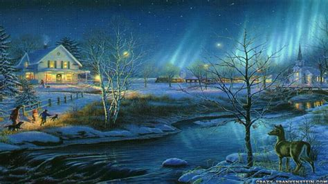 images of christmas scenery christmas scenes wallpapers free wallpaper cave