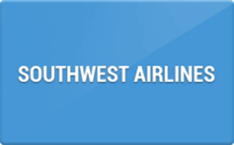 Southwest Gift Card Discount - southwest airlines gift card discounts comparison chart