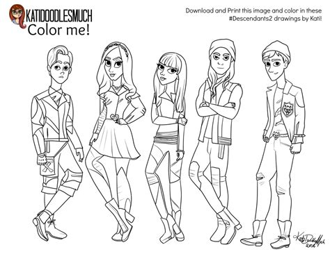 coloring pages descendants 2 kati treu on twitter quot now you can color in my doodle be
