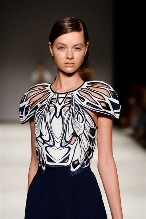 Mccall Butterfly Sleeve Dress by Symmetrical Pattern Fashion Intricate Lasercut Detail