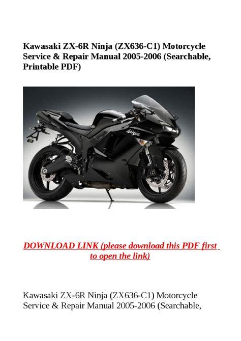 Kawasaki Zx 6r Ninja Zx636 C1 Motorcycle Service