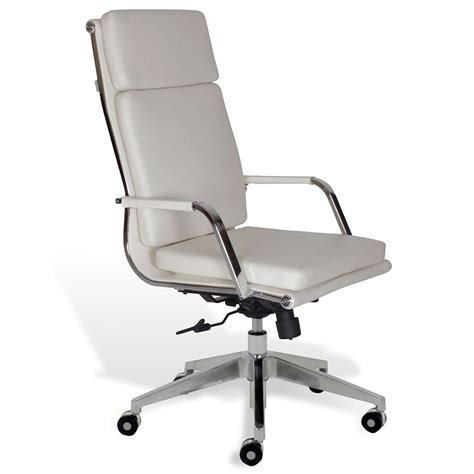 jesper greta wht hi back office chair collectic home
