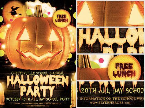 halloween party flyer template 4 15 the pumpkin