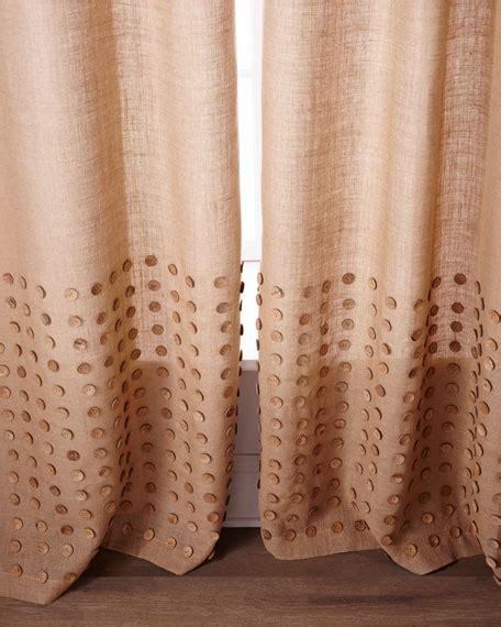 burlap curtains 96 each 96 quot l button detailed burlap curtain