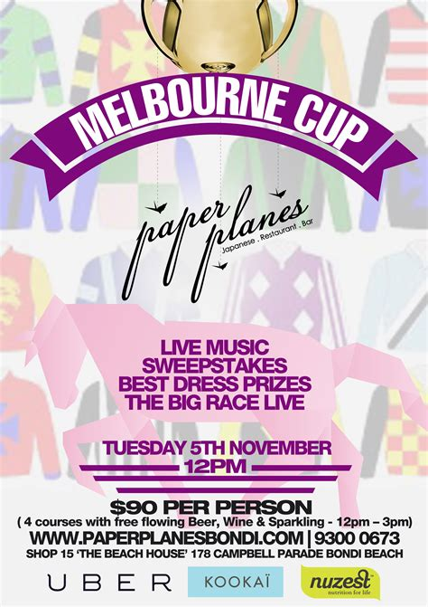 Melbourne Cup Sweepstakes - melbourne cup at paperplanes the beast