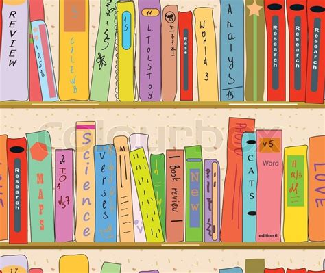 free vector pattern library book shelves in the library seamless pattern stock