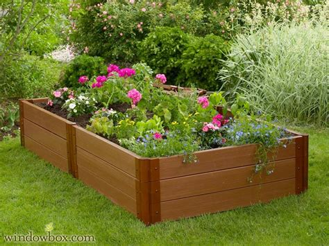 raised vegetable gardening bed planter box