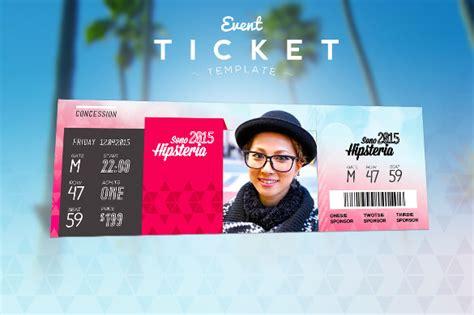 29 Inspiring Exles Of Ticket Designs Free Premium Templates Event Ticket Template Psd Free