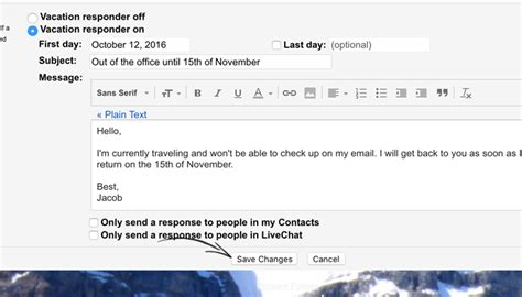 ooo mail template 4 out of office message exles that work when you rest