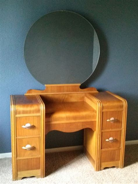 Waterfall Dresser Value 1930s waterfall vanity with original mirror and bench my antique furniture collection