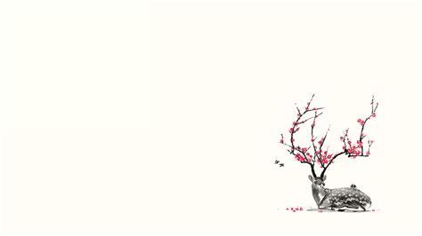wallpaper flower draw deer full hd wallpaper and background 1920x1080 id 211934