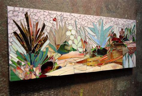 succulent garden mosaic wall art   order patio