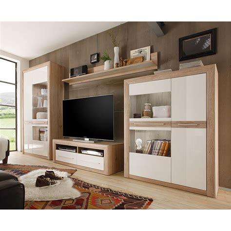 schrankwand wohnzimmer moderne wohnwand weiss hochglanz wohnwand tlg with