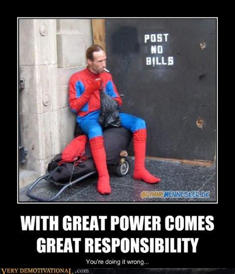 great meme smokin spidey with great power comes great