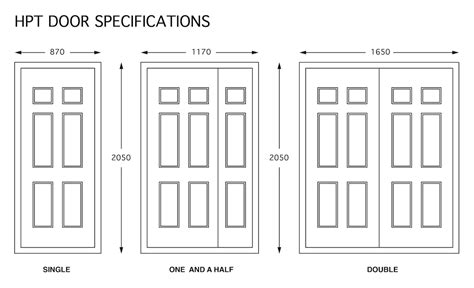 Kitchen Cabinet Door Dimensions by Hpt Door 187 Door Specifications