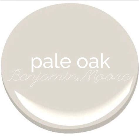 pale oak benjamin paint for the home