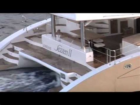 mega catamaran sailing yachts two luxury mega catamarans sailing together in antigua