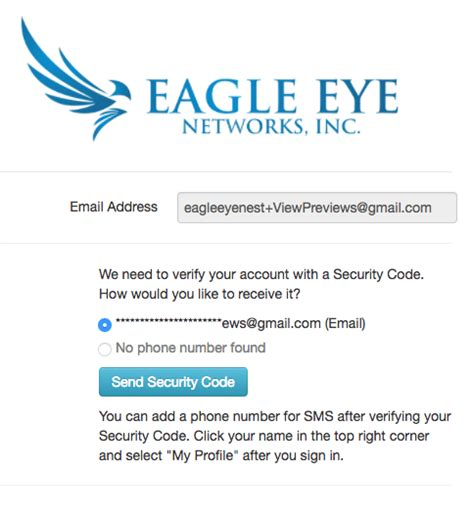 Two Factor Authentication - Eagle Eye Networks Eagle Communications Webmail