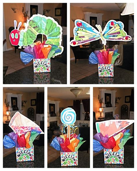 the hungry caterpillar birthday centerpieces