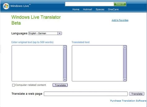 Free Tlate Free Translator Offered From Windows Live