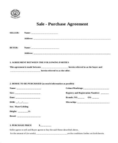 sle sales agreement form 10 free documents in doc pdf