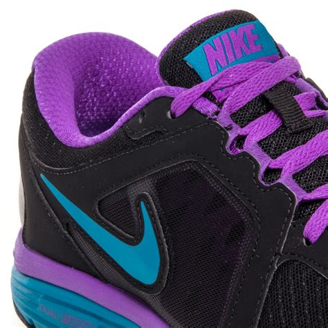 black and purple nike running shoes nike dual fusion run msl womens running shoes black