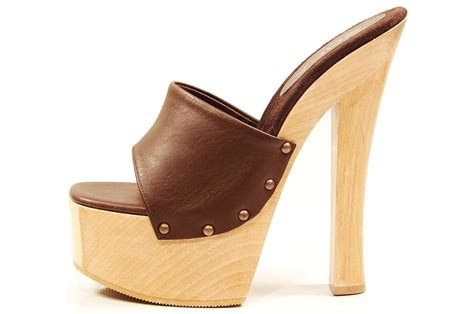 high heel clog sandals soca shoes brown high heel wood platform slip on