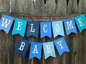 Welcome Home Baby Boy Decorations by Welcome Baby Banner Welcome Baby Sign Baby Boy Shower