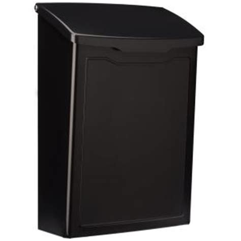 architectural mailboxes marina black wall mount mailbox